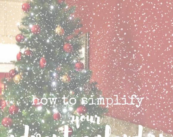 simple meaningful advent calendar