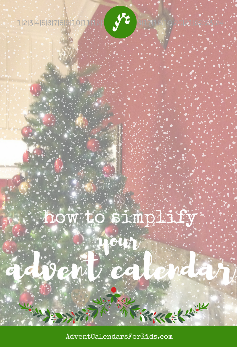 simple meaningful advent calendar